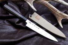 이녹스 AUS-10 혼야끼 스테인리스 스틸 와페티 150MM / 팔각 장미목핸들 + 목련목사야